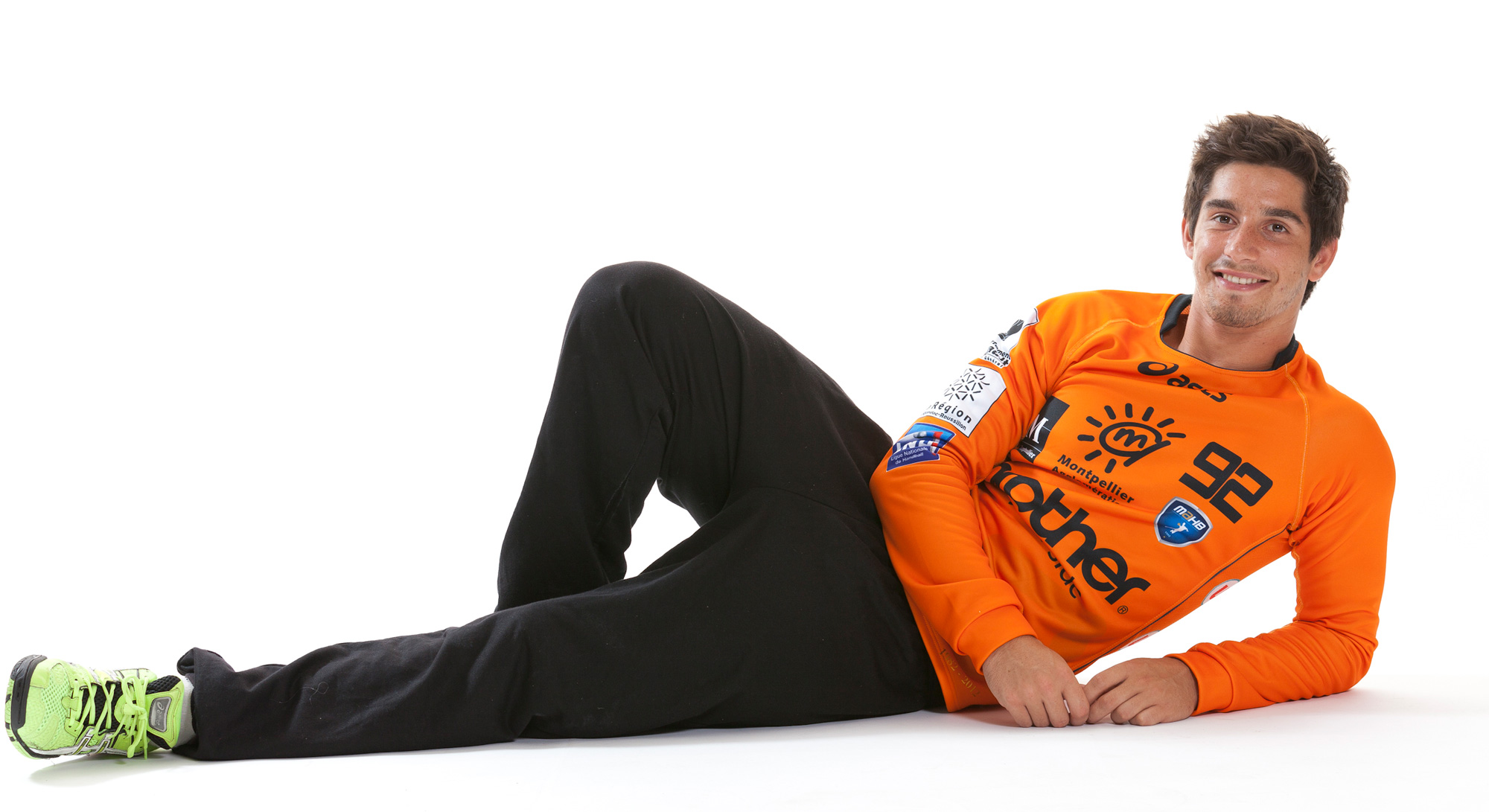 Saison 2012-2013, photo de pré-saison   Rémi Desbonnet est alors pensionnaire du centre de formation du Montpellier Handball