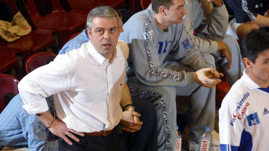 Thierry Anti, finale de Coupe de la Ligue 2003, remportée avec Créteil face au Montpellier de Patrice Canayer