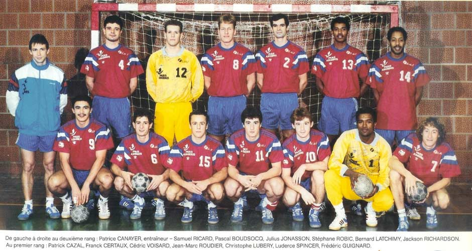 Saison 1990-1991, Patrice Canayer entrainait le Paris Asnière Handball | Source www.lafinancieredusport.fr