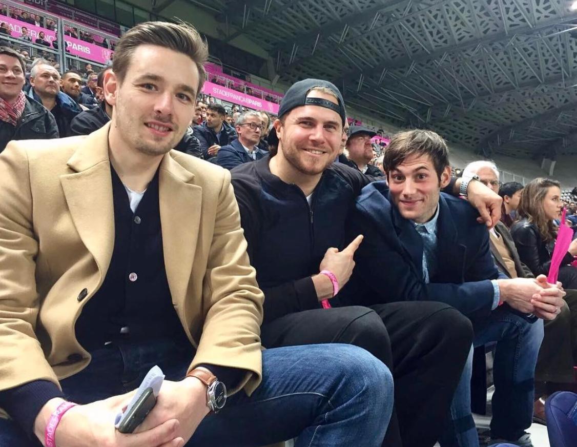 Découverte du rugby à Jean-Bouin ! (Instagram d'Uwe Gensheimer)