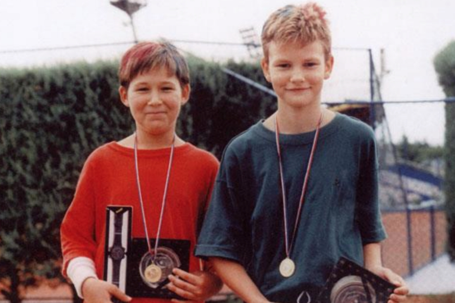 Mate Sunjic et un jeune coéquipier nommé... Ivan Cupic. (DR)