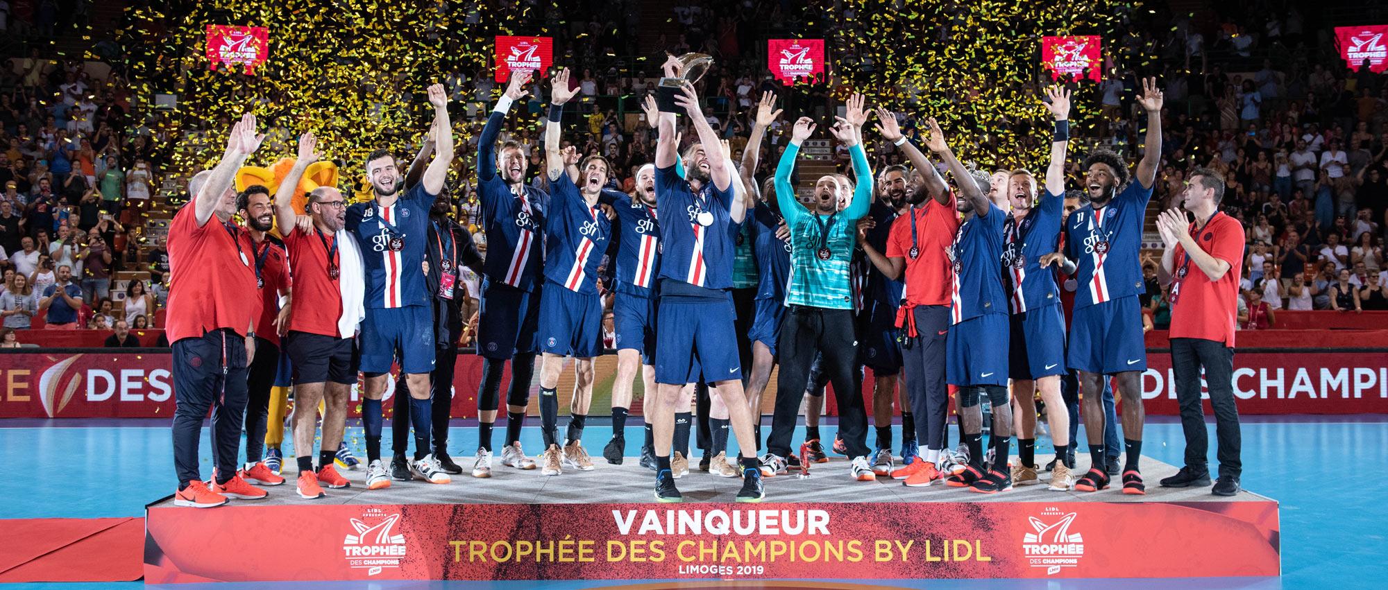 Samedi dernier à Limoges devant 4700 spectateurs, l'ailier gauche parisien a remporté son premier Trophée avec le PSG.