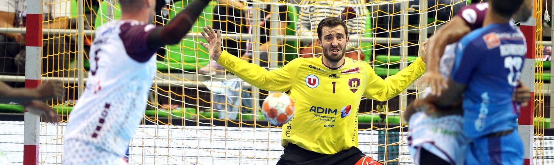 Le Nantais Cyril Dumoulin, lors de la demi-finale du Trophée des Champions 2018 contre Montpellier