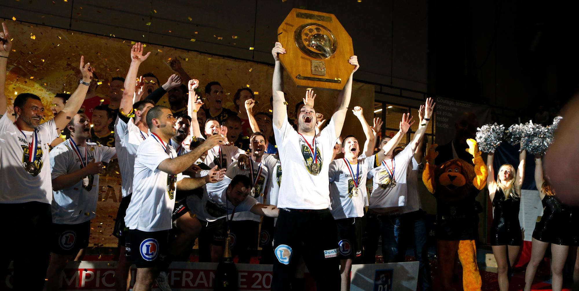 Le 22 mai 2014, Dunkerque est sacré Champion de Lidl Starligue, encore