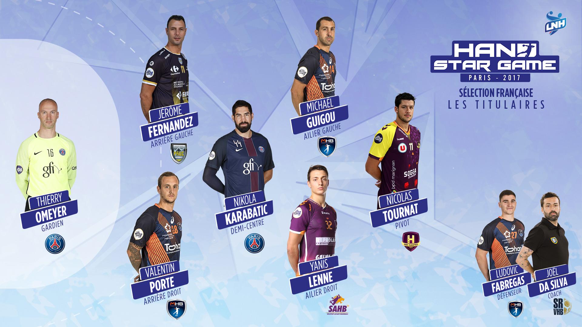 Les titulaires de la sélection française