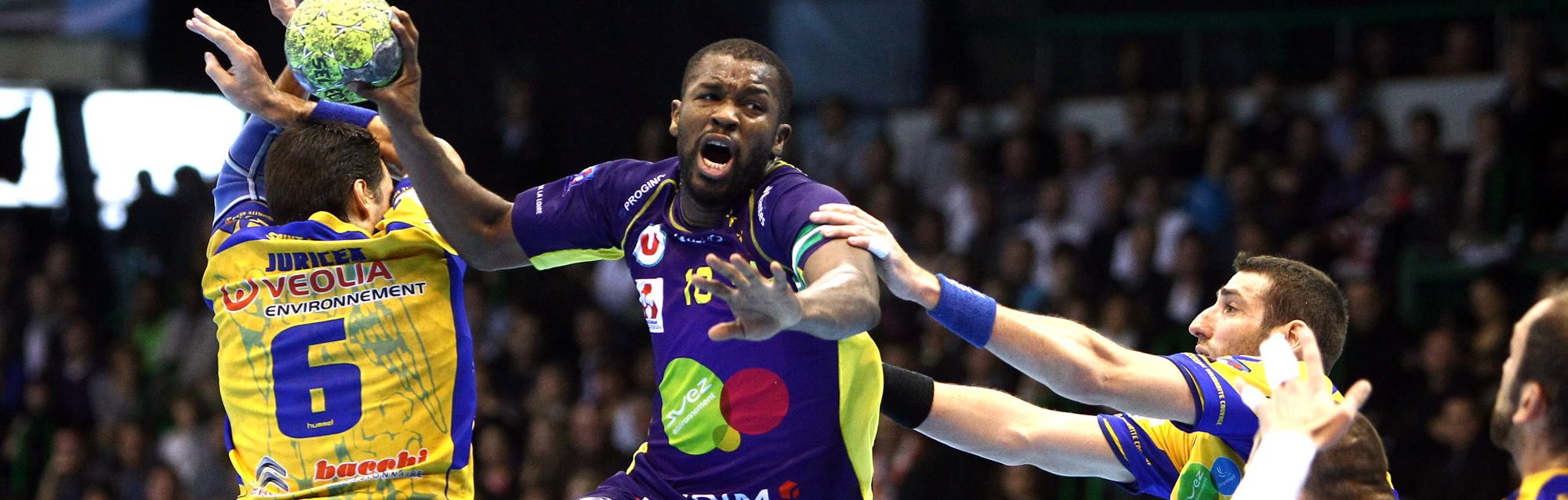 Rock Feliho contre Saint-Raphaël lors de la saison 2011-2012