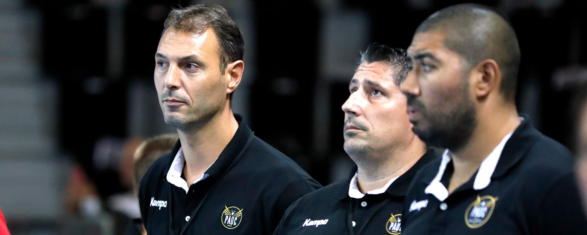 Jérôme (à gauche) et son adjoint Edu Fernandez (au centre)