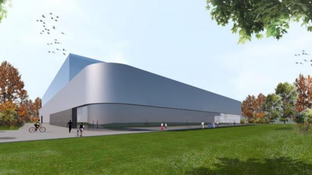La maquette de la future salle de Cesson-Rennes