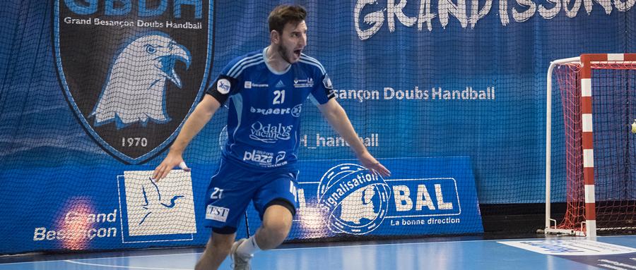 Luka Brkljacic évoluait sous les couleurs du Grand Besançon Doubs Handball la saison dernière.
