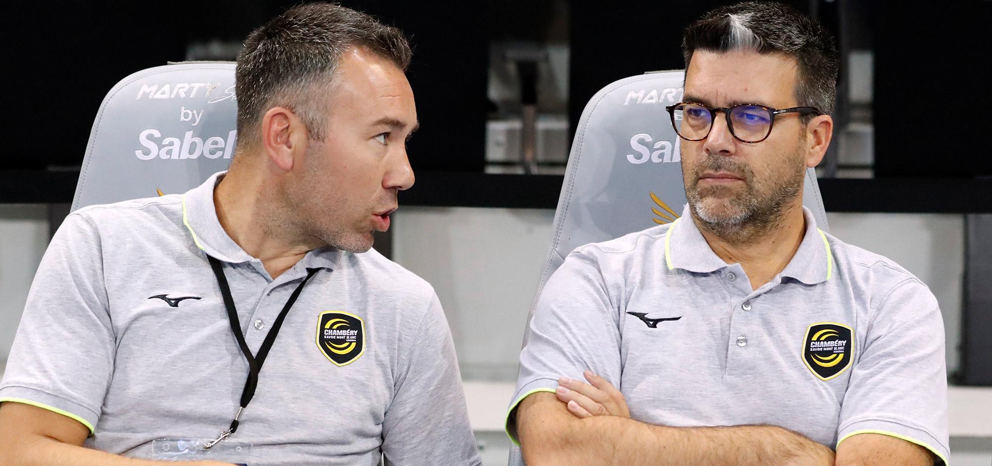 Depuis le départ à l'étranger de Thierry Anti, Erick Mathé (à droite) est le représentant des entraîneurs au Comité Directeur de la LNH