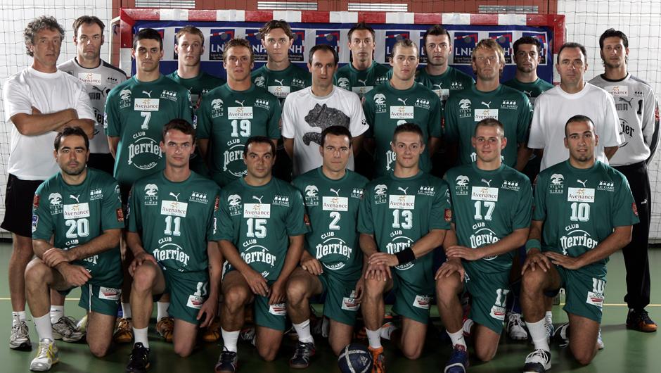 Bruno Martini, en haut à gauche, lors de la saison 2006-2007