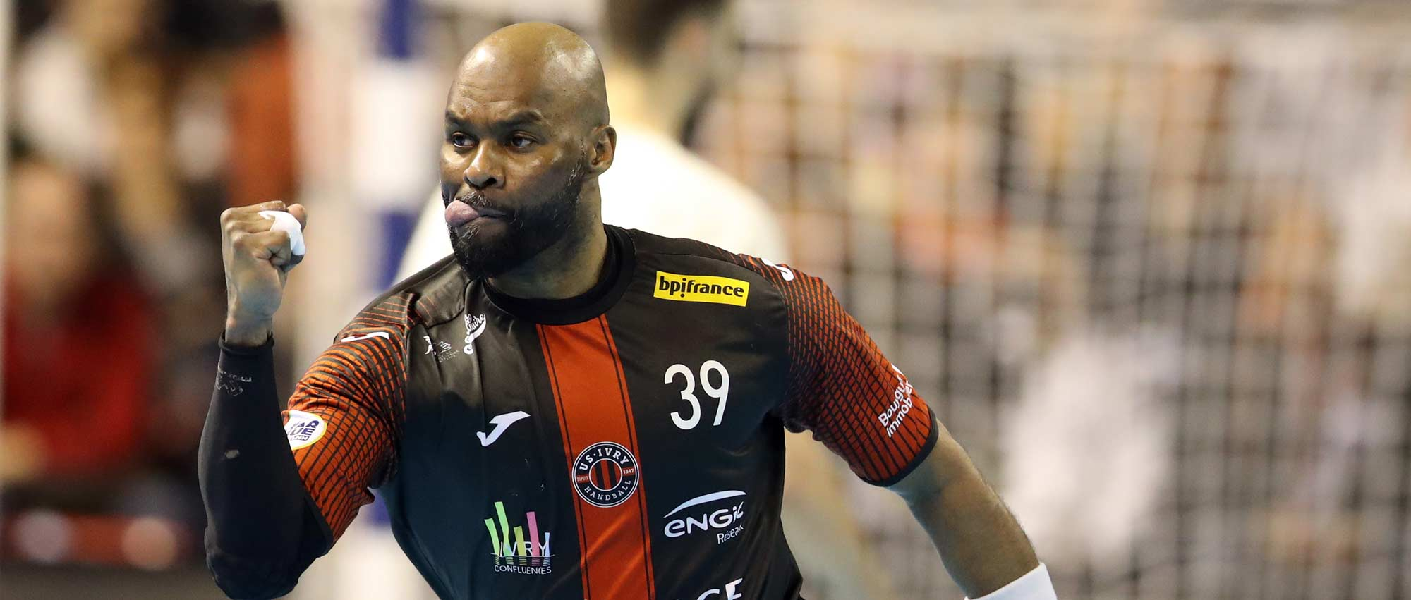 Johan Boisedu, ici lors de la demi-finale de Coupe de la Ligue 2019 ayant opposé Ivry à Paris
